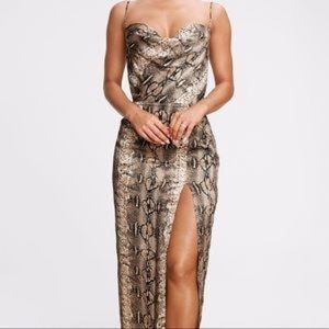 Dance & Marvel Snakeskin MIDI Dress